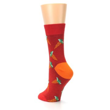 Image of Red Orange Carrots Women's Dress Sock (side-2-back-15)
