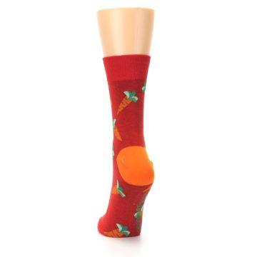Image of Red Orange Carrots Women's Dress Sock (back-17)