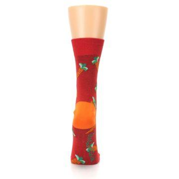 Image of Red Orange Carrots Women's Dress Sock (back-19)