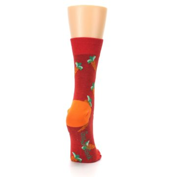 Image of Red Orange Carrots Women's Dress Sock (side-1-back-20)