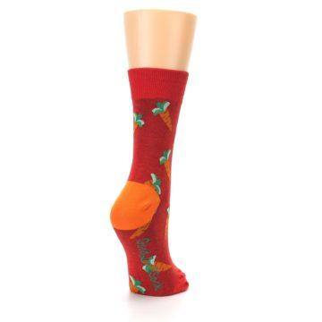 Image of Red Orange Carrots Women's Dress Sock (side-1-back-21)