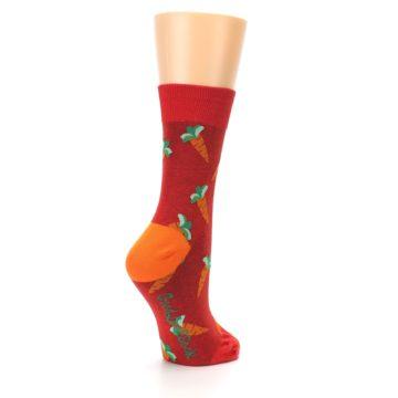 Image of Red Orange Carrots Women's Dress Sock (side-1-back-22)