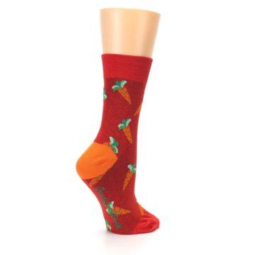 Image of Red Orange Carrots Women's Dress Sock (side-1-23)