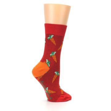 Image of Red Orange Carrots Women's Dress Sock (side-1-24)