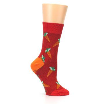 Image of Red Orange Carrots Women's Dress Sock (side-1-25)