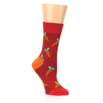 Image of Red Orange Carrots Women's Dress Sock (side-1-26)