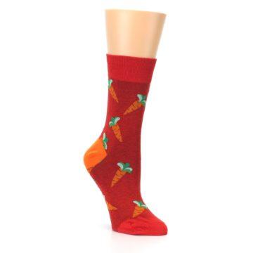 Image of Red Orange Carrots Women's Dress Sock (side-1-27)