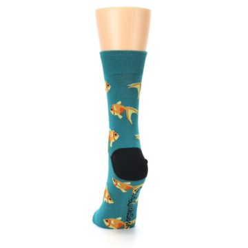 Image of Teal Goldfish Women's Dress Sock (back-17)