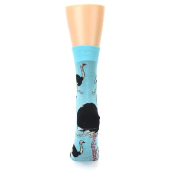 Image of Blue Black Ostriches Women's Dress Sock (back-18)