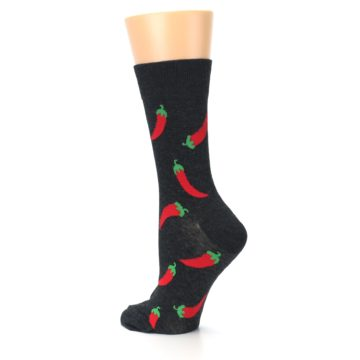 Image of Grey Hot Chili Peppers Women's Dress Sock (side-2-back-14)
