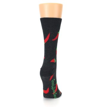 Image of Grey Hot Chili Peppers Women's Dress Sock (side-1-back-20)