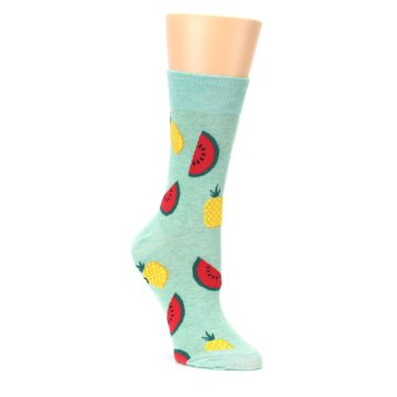 green yellow red fruity socks by Good Luck Sock