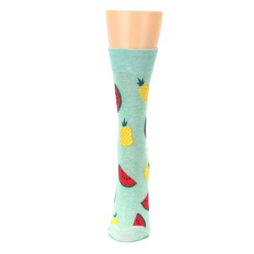 Image of Green Pineapples and Watermelons Women's Dress Sock (side-2-front-06)
