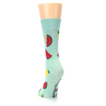 Image of Green Pineapples and Watermelons Women's Dress Sock (back-17)