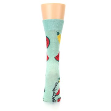 Image of Green Pineapples and Watermelons Women's Dress Sock (back-19)