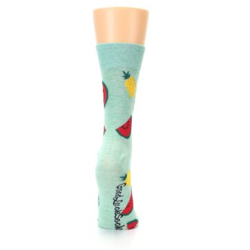 Image of Green Pineapples and Watermelons Women's Dress Sock (side-1-back-20)