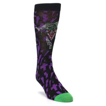 Image of Purple Black Batman Joker Men's Casual Socks (side-1-front-02)