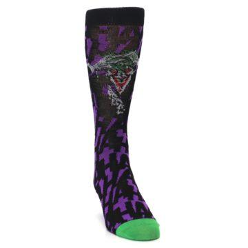 Image of Purple Black Batman Joker Men's Casual Socks (side-1-front-03)