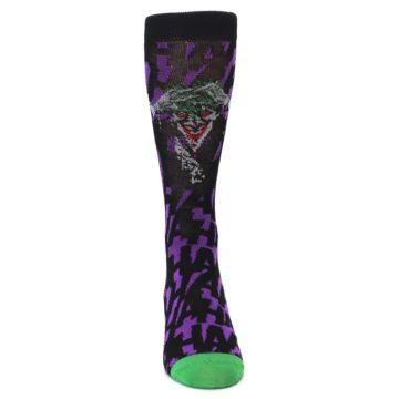 Image of Purple Black Batman Joker Men's Casual Socks (front-04)
