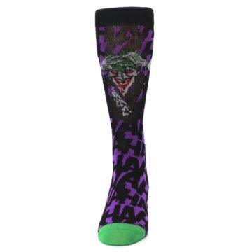 Image of Purple Black Batman Joker Men's Casual Socks (front-05)
