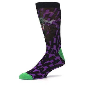 Image of Purple Black Batman Joker Men's Casual Socks (side-2-10)