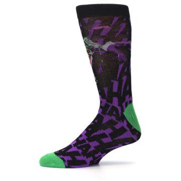 Image of Purple Black Batman Joker Men's Casual Socks (side-2-11)