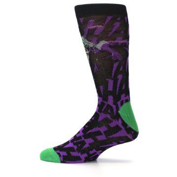 Image of Purple Black Batman Joker Men's Casual Socks (side-2-12)