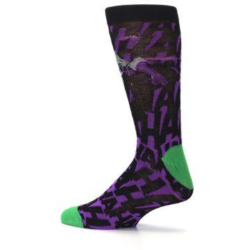 Image of Purple Black Batman Joker Men's Casual Socks (side-2-13)