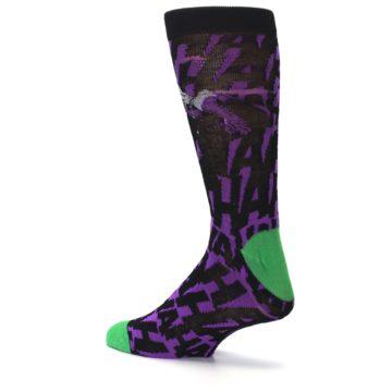 Image of Purple Black Batman Joker Men's Casual Socks (side-2-back-14)