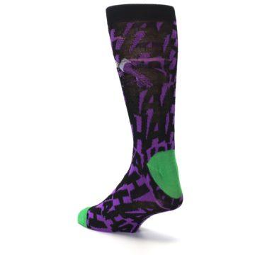 Image of Purple Black Batman Joker Men's Casual Socks (side-2-back-15)
