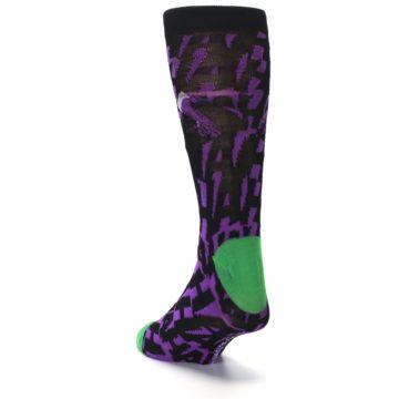 Image of Purple Black Batman Joker Men's Casual Socks (side-2-back-16)