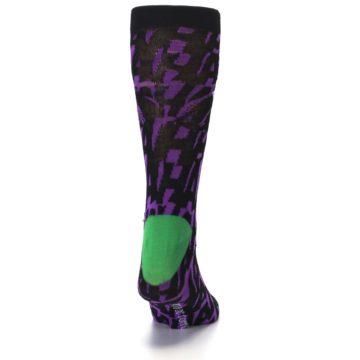 Image of Purple Black Batman Joker Men's Casual Socks (back-19)