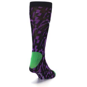 Image of Purple Black Batman Joker Men's Casual Socks (side-1-back-20)