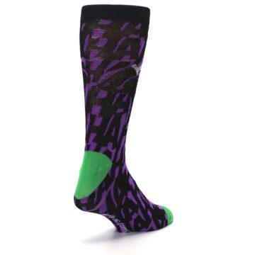 Image of Purple Black Batman Joker Men's Casual Socks (side-1-back-21)