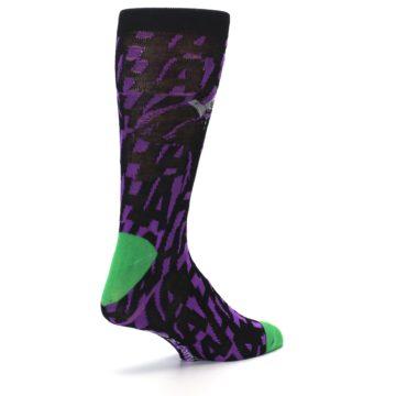 Image of Purple Black Batman Joker Men's Casual Socks (side-1-back-22)
