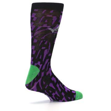 Image of Purple Black Batman Joker Men's Casual Socks (side-1-23)