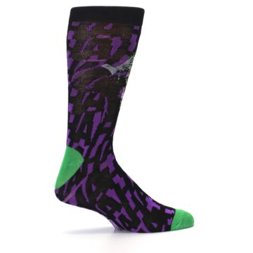Image of Purple Black Batman Joker Men's Casual Socks (side-1-24)