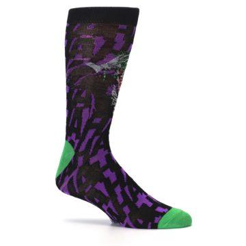 Image of Purple Black Batman Joker Men's Casual Socks (side-1-25)