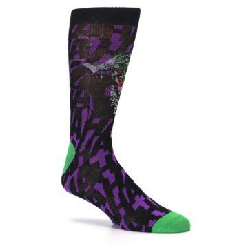 Image of Purple Black Batman Joker Men's Casual Socks (side-1-26)