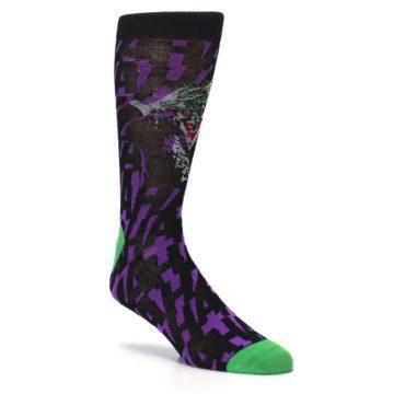 Image of Purple Black Batman Joker Men's Casual Socks (side-1-27)