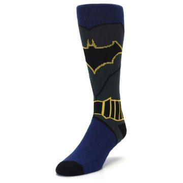 Image of Navy Grey Batman Suit Up Men's Casual Socks (side-2-front-07)