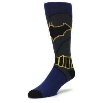 Image of Navy Grey Batman Suit Up Men's Casual Socks (side-2-front-08)