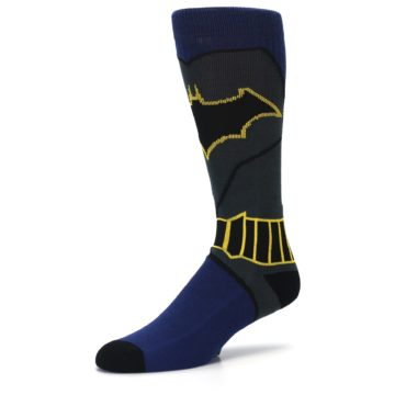 Image of Navy Grey Batman Suit Up Men's Casual Socks (side-2-09)