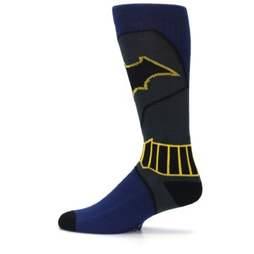 Image of Navy Grey Batman Suit Up Men's Casual Socks (side-2-12)