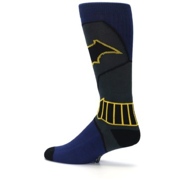Image of Navy Grey Batman Suit Up Men's Casual Socks (side-2-13)