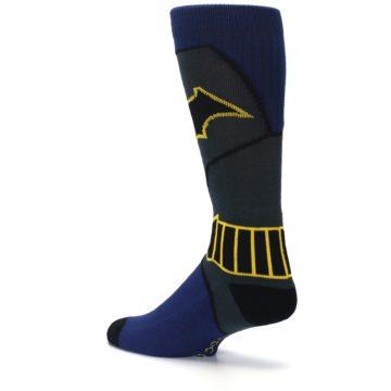 Image of Navy Grey Batman Suit Up Men's Casual Socks (side-2-back-14)