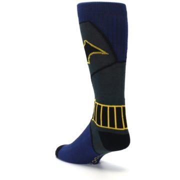 Image of Navy Grey Batman Suit Up Men's Casual Socks (side-2-back-15)