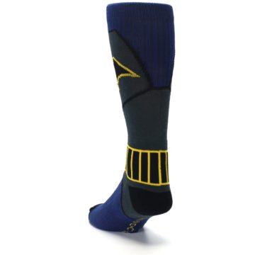 Image of Navy Grey Batman Suit Up Men's Casual Socks (side-2-back-16)