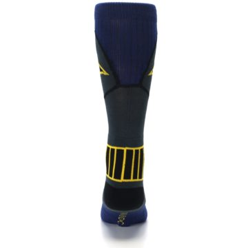 Image of Navy Grey Batman Suit Up Men's Casual Socks (back-18)