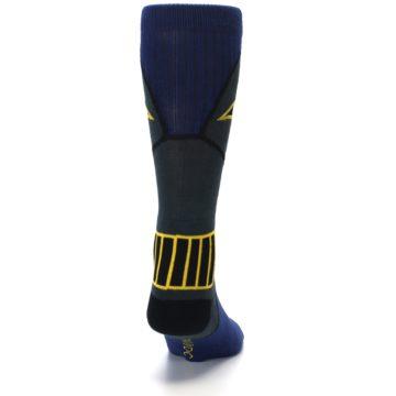 Image of Navy Grey Batman Suit Up Men's Casual Socks (back-19)